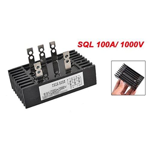 SODIAL (R) SQL 100A 1000V-Amp 3-Phasen-Diode Metallgehaeuse Brueckengleichrichter