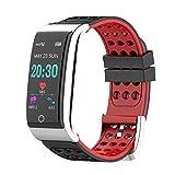 VIPECO E08 Waterproof Heart Rate Walking Blood Pressure Watch Smart Bracelet (Black+Red)