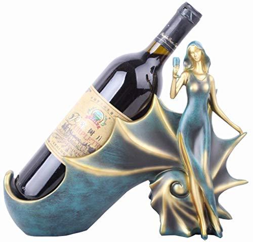 Wein Flaschenregal, Statue Handwerk Weinregal, Schnecke Mädchen, europäische -