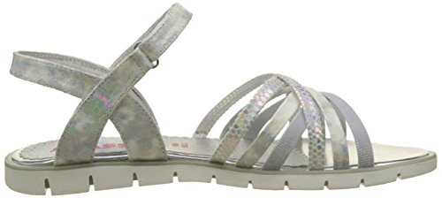 ASSO, Sandales Bout Ouvert Fille Blanc (white)