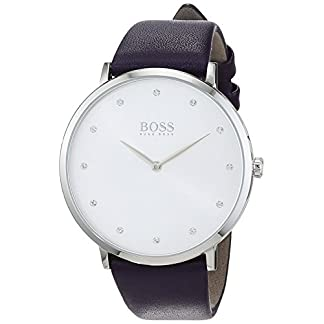 Hugo BOSS Reloj Análogo clásico para Mujer de Cuarzo con Correa en Cuero 1502410