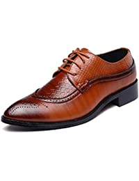 SHELAIDON Herren Schnürhalbschuhe Leder Schuhe Lederschuhe Klassiker Oxfords Derby Business (EUR47,Black)
