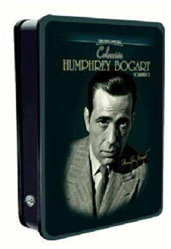 Bild von Der versteinerte Wald - Die Spur des Falken - Die schwarze Natter - Entscheidung in der Sierra - Hemmungslose Liebe - Nachts unterwegs- 6x Humphrey Bogart- Metall-Box - deutsche tonspur