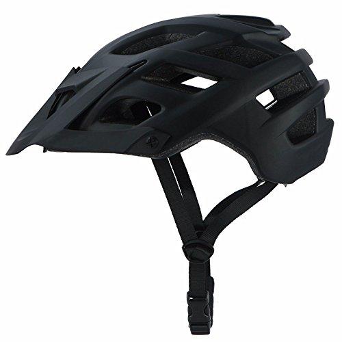 Tofree Bike helm Colorful Damen/Herren Riding Helm Schutzhelm Leichter Fahrradhelm Helmumfang 55-61cm (Schwarz)