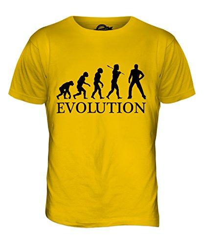 CandyMix Disco Musik Tanz Evolution Des Menschen Herren T Shirt Dunkelgelb