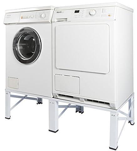 Doppel Untergestell für Waschmaschine und Trockner Sockel Podest Unterbau Erhöhung 005160