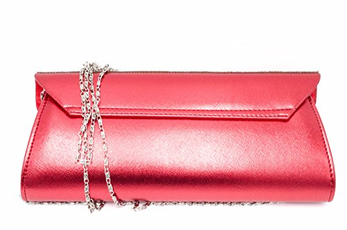 Hello Bag! , Damen Clutch Rot