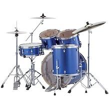 """Batería Pearl Export Rock 22""""Electric Blue Sparkle con platillos"""