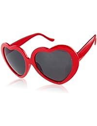 Boolavard ® TM Fashion Retro Summer Heart Shape Design Lolita Sunglasses Eye Glasses Eyewear (Red)