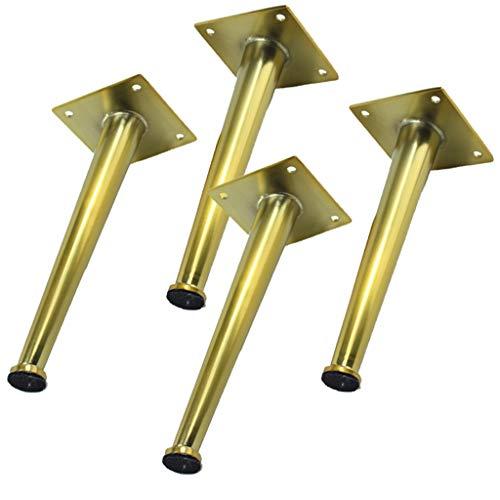 LXS 4 Stücke, Möbelfüße, Metall Eisen Modernen Stil Beine, Badezimmerschrank Sofa Schrank Füße DIY Ersatzteile, Sofa Tisch Bett Beine, Höhe 7,9 Zoll (20 cm), Goldene - Tilt Bett-tisch