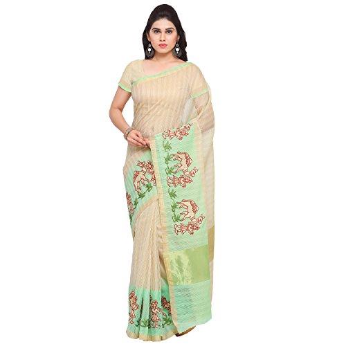 sidhidata textile green Embroidered Kanjivaram Kota Silk Saree