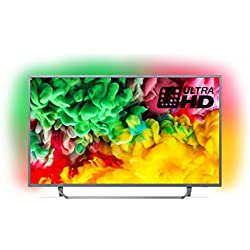 Philips 55PUS6753/12 55-Inch 4K Ultra HD Smart TV with HDR Plus, Freeview Play and Ambilight 3-sided - Dark Silver (2018 Model)
