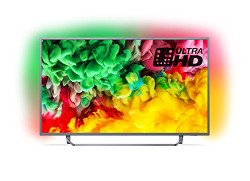 Philips 65PUS6753/12 65-Inch 4K Ultra HD Smart TV with HDR Plus, Freeview Play and Ambilight 3-sided - Dark Silver (2018 Model)