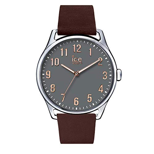 Ice-Watch - ICE time Brown Stone - Reloj marrone para Hombre con Correa de cuero - 013046 (Large)