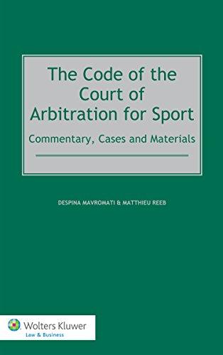 The Code of the Court of Arbitration for Sport por Despina Mavromati