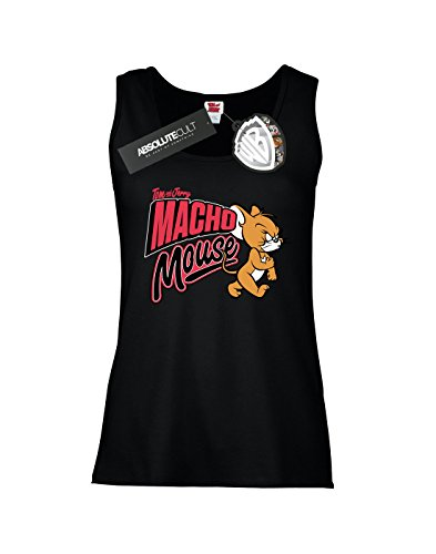 Tom and Jerry Femme Macho Mouse Tank Top Noir