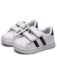 XL_etxiezi Zapatos para niños y niñas Zapatos Blancos Casuales, Negro_28