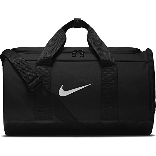 Nike W Nk Team Duffle, Borsa Palestra Donna, Nero Black/White, 24x15x45 Centimeters (W x H x L)