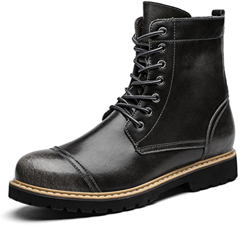 ZQ@QXDie Business casual Männer Winter Stiefel hand Cashmere thermische Schuhe