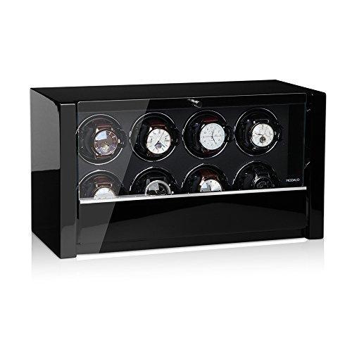 Modalo Unisex Zubehör Uhrenbeweger für 8 Automatikuhren verschiedene Materialien schwarz 3908113 - 2