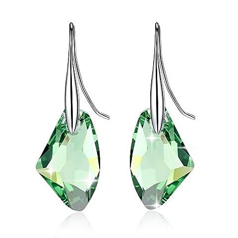 GoSparkling Ohrringe – Peridot-Kristall 925 Silberohrringe – Mit Kristallen von