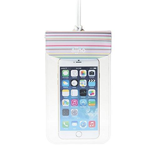 Aiino Universal Sea Hülle Wasserdichte-Tasche für Smartphone-Blau Regenbogen