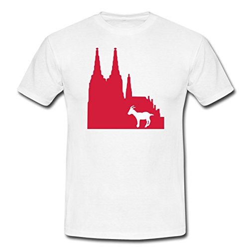 Spreadshirt Köln Männer T-Shirt, XL, Weiß