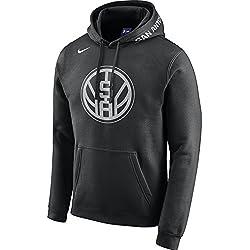 Nike NBA San Antonio Spurs Kawhi Leonard Ginobili Parker Aldridge Gasol 2017 2018 City Edition Oficial Away, Sudadera con capucha de Hombre