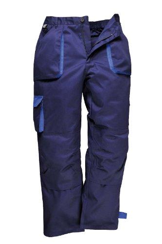 Portwest Herren Contrast Arbeitskleidung Hosen (Tx11) Schwarz, Marineblau - Marine, XL Regulär (Nemesis Hosen)