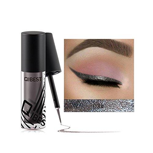Allbesta Metallic Liquid Eyeliner Shiny Smokey Augen Wasserdicht Langlebig Glitzer Lidschatten Make-up