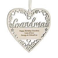 Alphabet barn Grandma Birthday Gift Personalised Handmade Plaque Keepsake Decoration UK made 12.5cm x 5mm