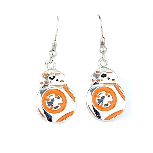 Star Wars BB8Roboter Ohrringe für Damen Star Wars Kostüm ()