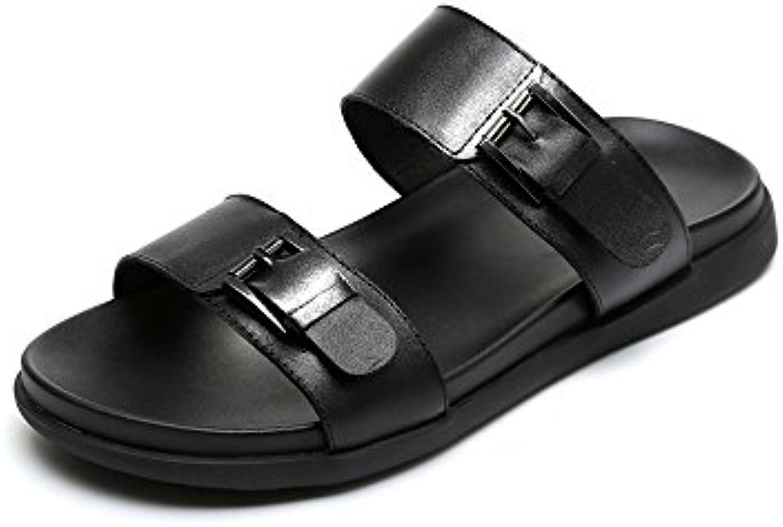 YQQ Sandalen Im Freien Hausschuhe Für Herren Sommer Strandschuhe äußerer Verschleiß Ferienschuhe Mode Reise Schuhe
