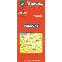 Pologne : Index des localités. Carte numéro 974 - échelle 1/700000 1 cm=7 km