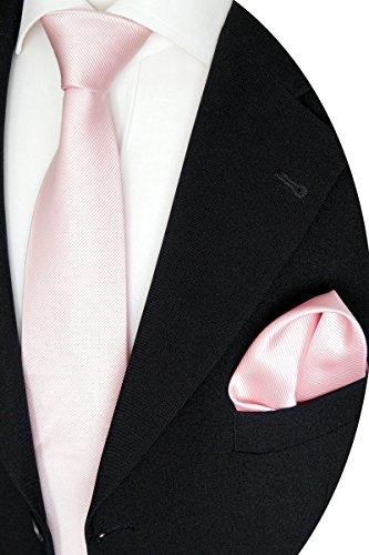 Beytnur Herren Krawattenn Set mit Manschettenknöpfe und Einstecktuch Kmt 76.3