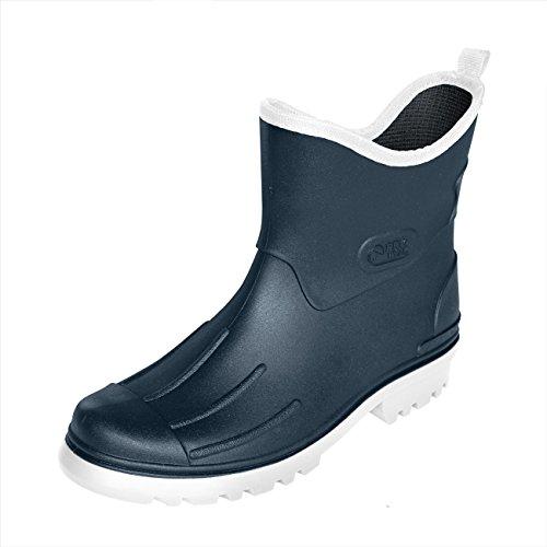 Bockstiegel Herren Jungen Gummistiefel Peter aus Polyvinylchorid (PVC) Regenstiefel Stiefelette, Größe:45 EU, Farbe:dunkelblau/weiß (Weiße Stiefel Für Jungen)