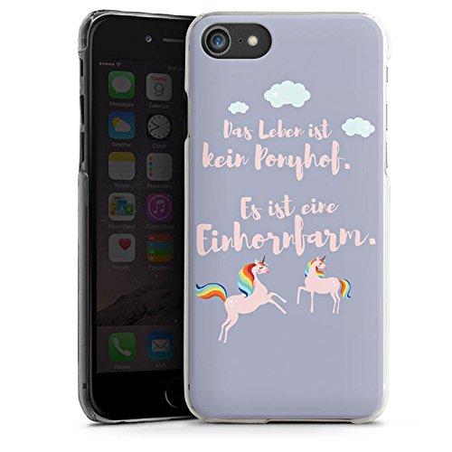 Apple iPhone X Silikon Hülle Case Schutzhülle Einhörner Spruch Ponyhof Hard Case transparent