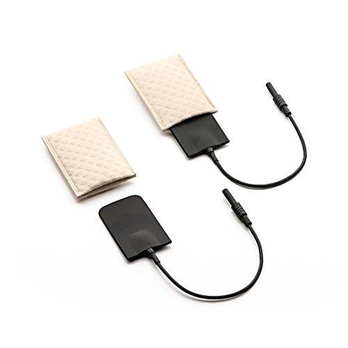 Saalio® Achselelektroden 1 Paar aus Silikon mit Schwammtaschen für Leitungswasser-Iontophorese gegen Achselschweiß