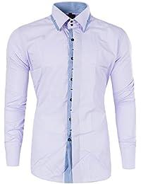 M474 YVES Herren Slim Fit Polo Club Shirt Hemd Langarm Figurbetont Clubwear 3b3e4acd16