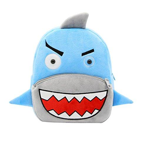 Winkey Rucksack für Kinder/ Baby, Mädchen und Jungen, niedlich, Schultasche, Umhängetasche Shark 26.5x24x10.5cm wide 20cm x height 24cm