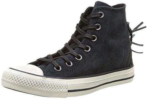 Converse Chuck Taylor All Star Femme Burnished Suede Tri Zip Hi 381940, Damen Sneaker, Schwarz (8 NOIR), EU 37
