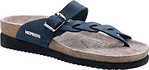 Mephisto Womens Helen Twist Nubuck Sandals Marine