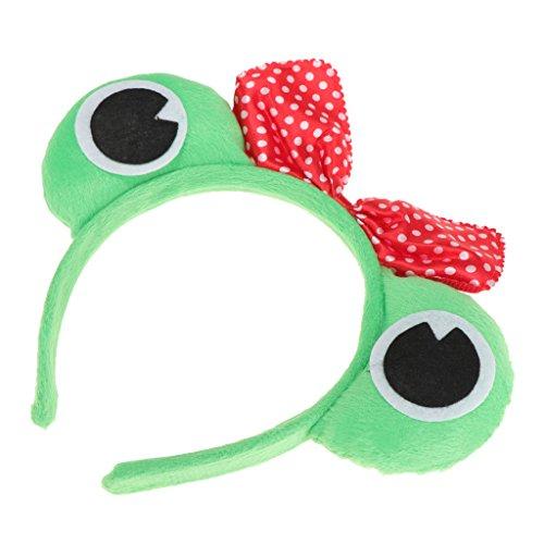 FITYLE Frosch Kostüm Haareif Haarband Stirnband Kopfschmuck Haarreifen zu Karneval Fasching - Frosch Prinzessin, 11 cm