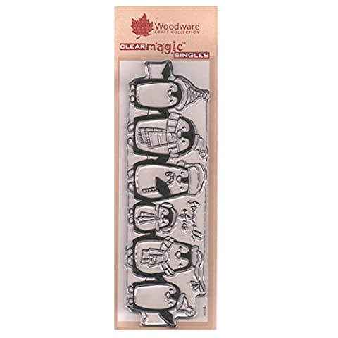 Clear Stamps Set Xmas - Penguin Parade (Penguin Christmas Decor)