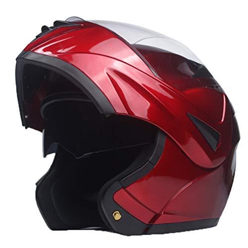 Flip up caschi da moto per adulti Dual visiera sistema anti nebbia vento sabbia pieno faccia moto casco Outdoor tappi di sicurezza cappello per Motocross Mountain Bike Racing