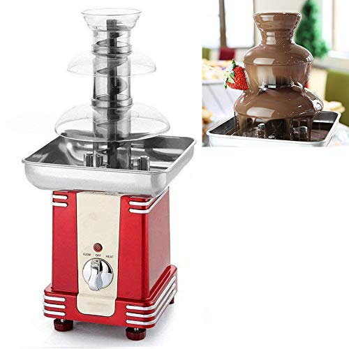 ACOMG Schokoladenfondue, elektrische Schokoladenfondue-Wasserfall-Schmelzmaschine, Küchengerät zum Eintauchen von Schokolade, 3-stufig -