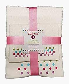 QM-Bedding® - Juego de Toallas de baño de Mano Bordadas con diseño de