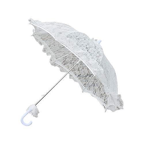 Spitze-Regenschirm-Sonnenschirm-Weiß-romantischer Hochzeits-Regenschirm-Dame Costume Accessory Bridal Party Decoration Photo - Regendicht Kostüm