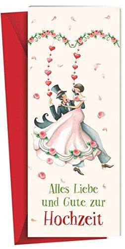 Alles Liebe und Gute zur Hochzeit: Glückwunschkarte mit Leporello