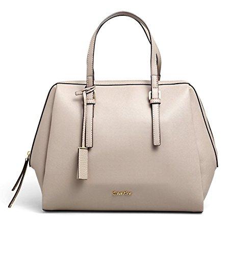 CALVIN KLEIN - Femme sac a main marissa satchel beige